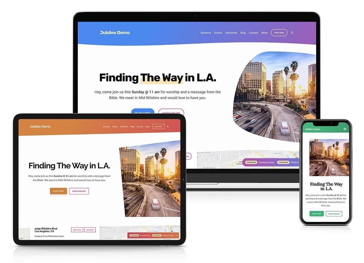 Church website with WordPress
